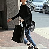 Miley Cyrus sported a pair of jeans.