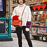 On Assistant Editor Marina Liao: Zara sweater, H&M jeans, Golden Goose sneakers, and Danse Lente bag.