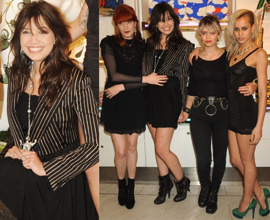 Pictures of Florence Welch, Daisy Lowe, Pixie Geldof and Alice Dellal for World Trust Emeralds for Elephants at Selfridges