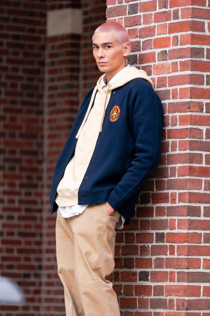 "Evan Mock as Akeno ""Aki"" Menzies"