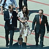 Kate Middleton and Prince William landed in Brisbane, Australia to change plans and head home.