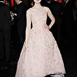 Elle Fanning wore Oscar de la Renta at the BIFAs.