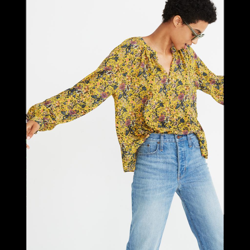 3671a0fe312e Madewell x Karen Walker Silk Floral Gennaker Top