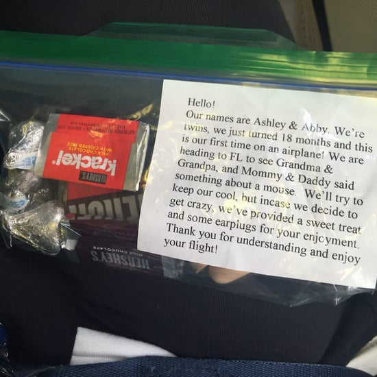 Parents of Babies Give Plane Passengers Goodie Bags