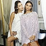 Bella Posed Backstage With Emily Ratajkowski, Who Also Modeled a Look