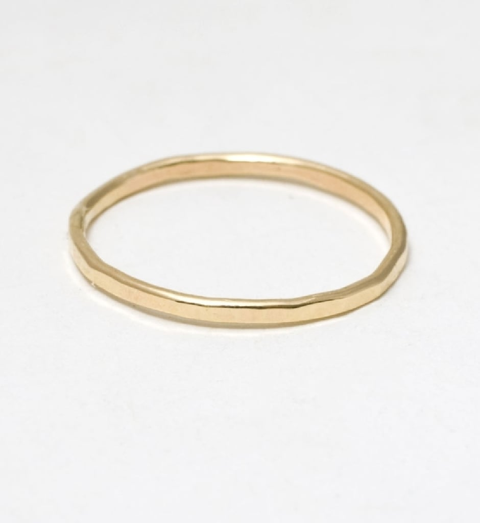Catbird is one of my favorite boutiques in Brooklyn, and every couple of months, I like to treat myself to one of their rings. This classic hammered first knuckle ring ($64) is so pretty, delicate, and I love the idea of wearing it stacked above my other Catbird rings. 