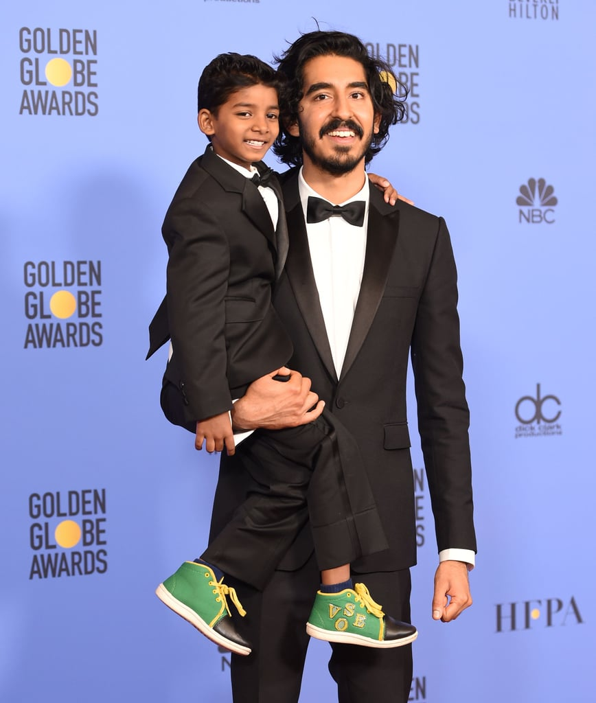 Pictured: Dev Patel and Sunny Pawar