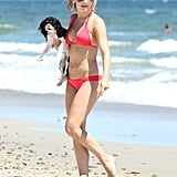 Julianne Hough hung out on the beach in Malibu with her dogs in July 2012.