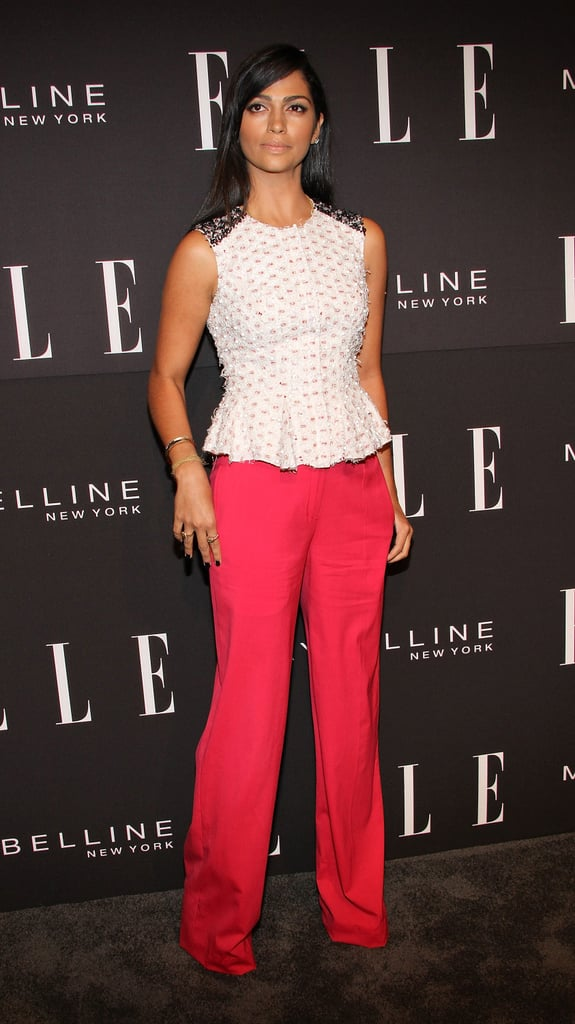 Camila Alves chose chic separates for Elle's annual Fashion Next Presentation.