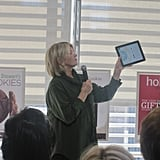 Martha showing off the iPad app.
