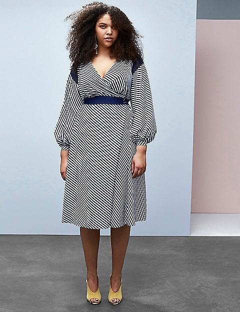 Striped Wrap Dress ($138)