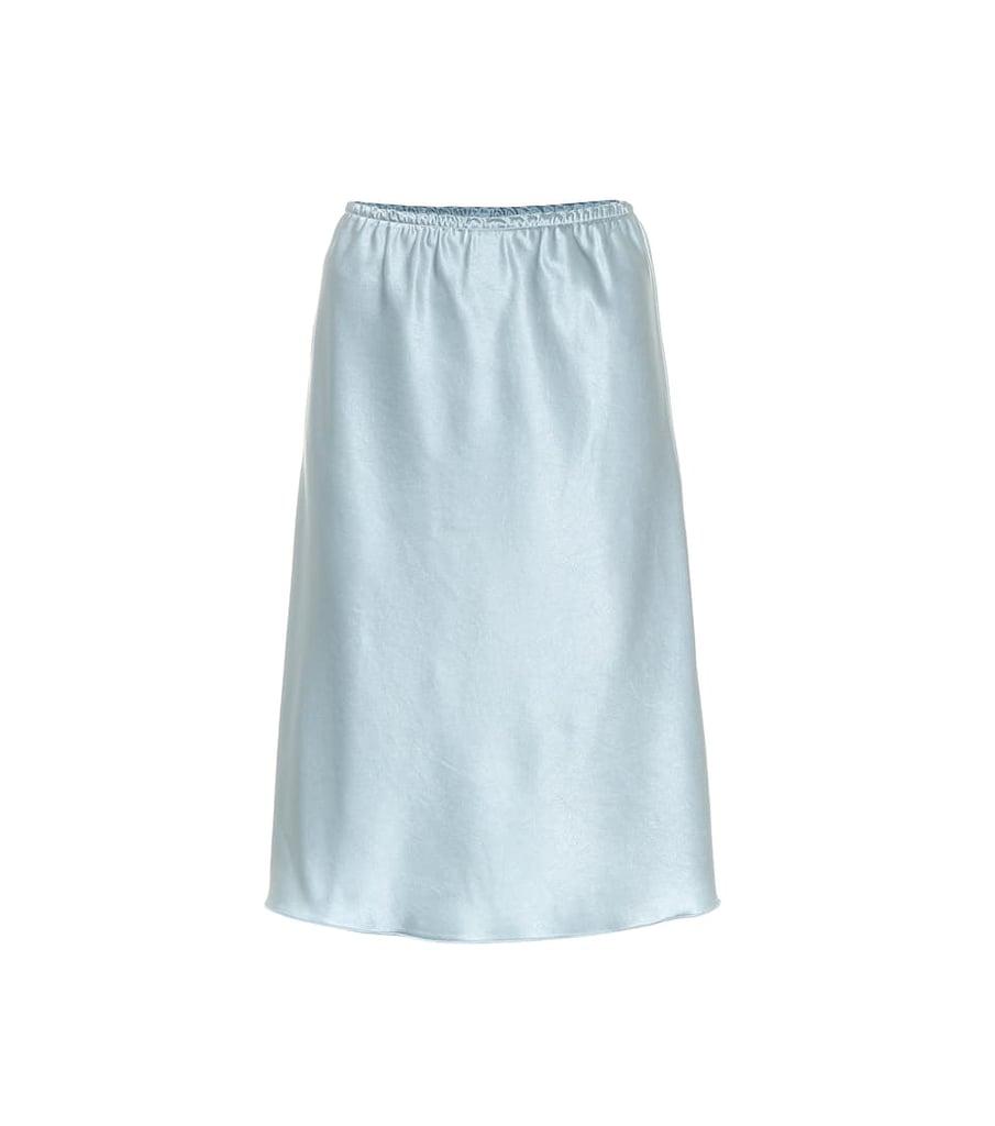 Alexa Chung Satin Midi Skirt