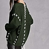 Forever 21 Oversized Lace-Up Sweater