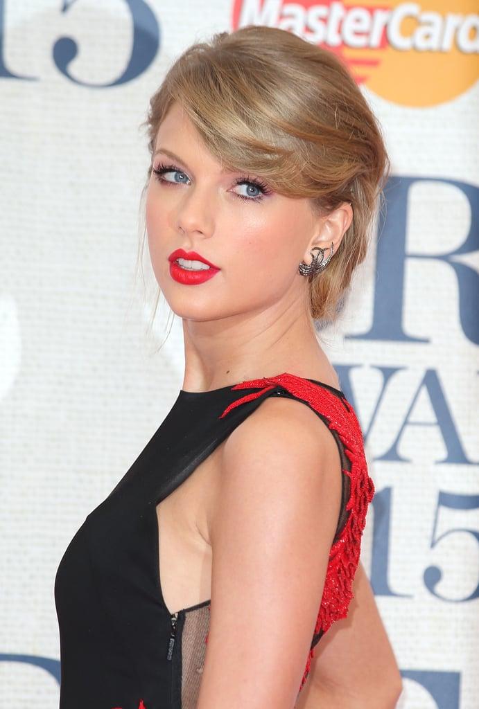 Taylor Swift's Hair and Makeup at the Brit Awards 2015