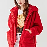 I.Am.Gia Pixie Red Teddy Coat