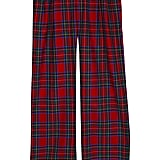 Red tartan wool trousers (£79.99)
