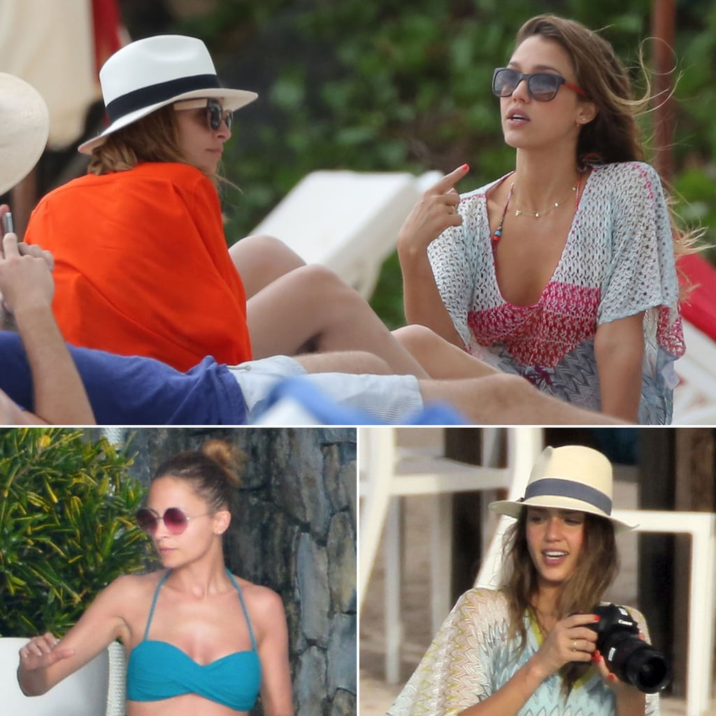 Nicole Richie in a Bikini With Jessica Alba | Photos