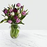 Darling Lavender and White Tulips