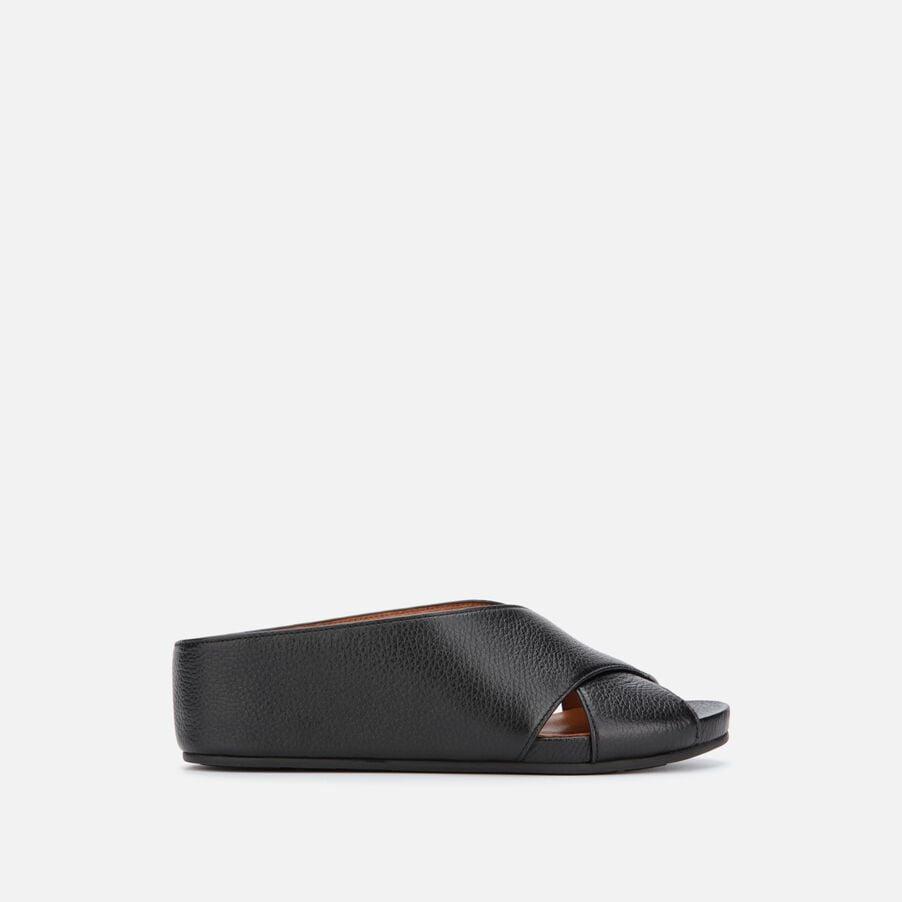 Gisele X Band Leather Slide Sandals