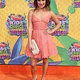 Lea Michele glowed in a pink dress.