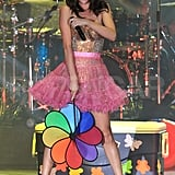 Selena Gomez Takes the Stage in a Minicostume With the Support of Justin Bieber
