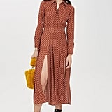 Rust Spot Print Shirt Dress
