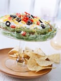 Seven-Layer Dip With Patriotic Chips