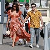 Priyanka Chopra Maxi Dress in Paris