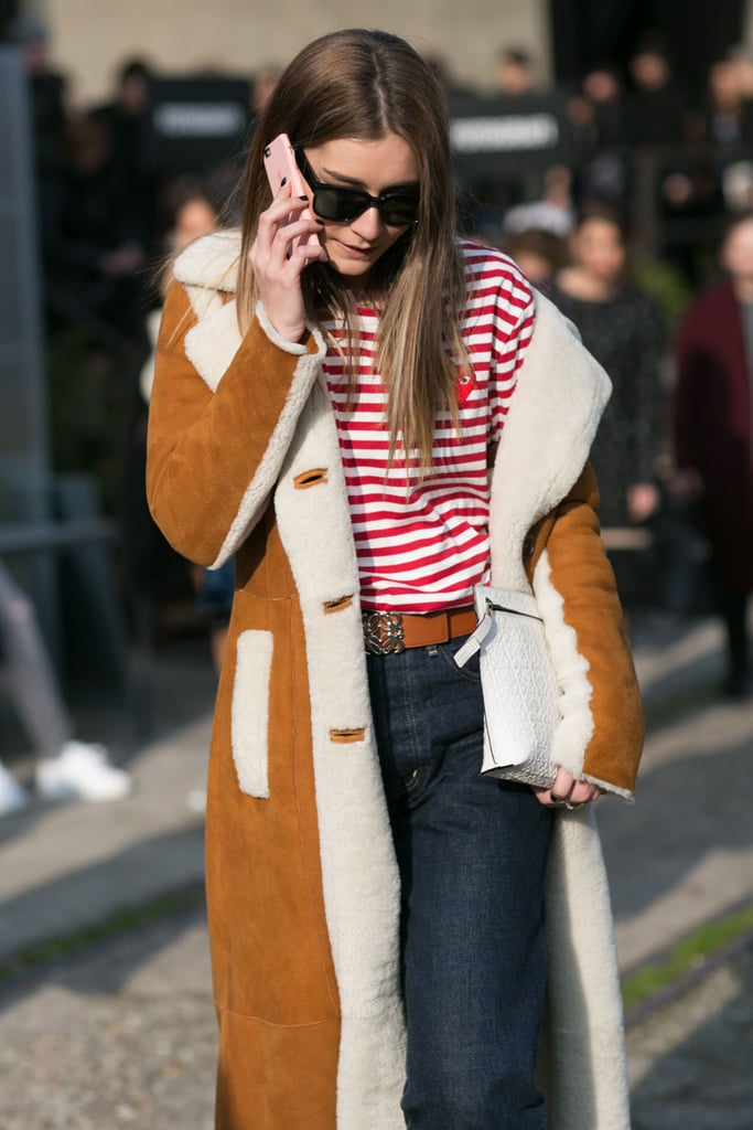 Stripes and Shearling Also Never Go Out of Style