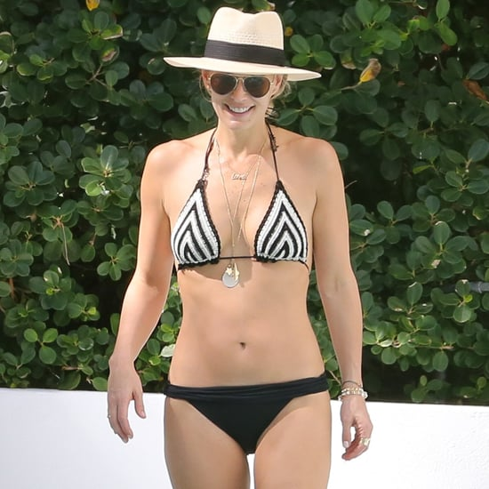 Molly Sims in a Bikini With Her Son in Miami