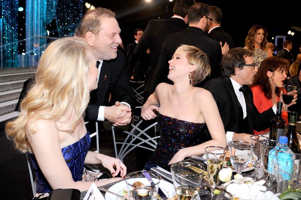 Jen caught up with Harvey Weinstein.