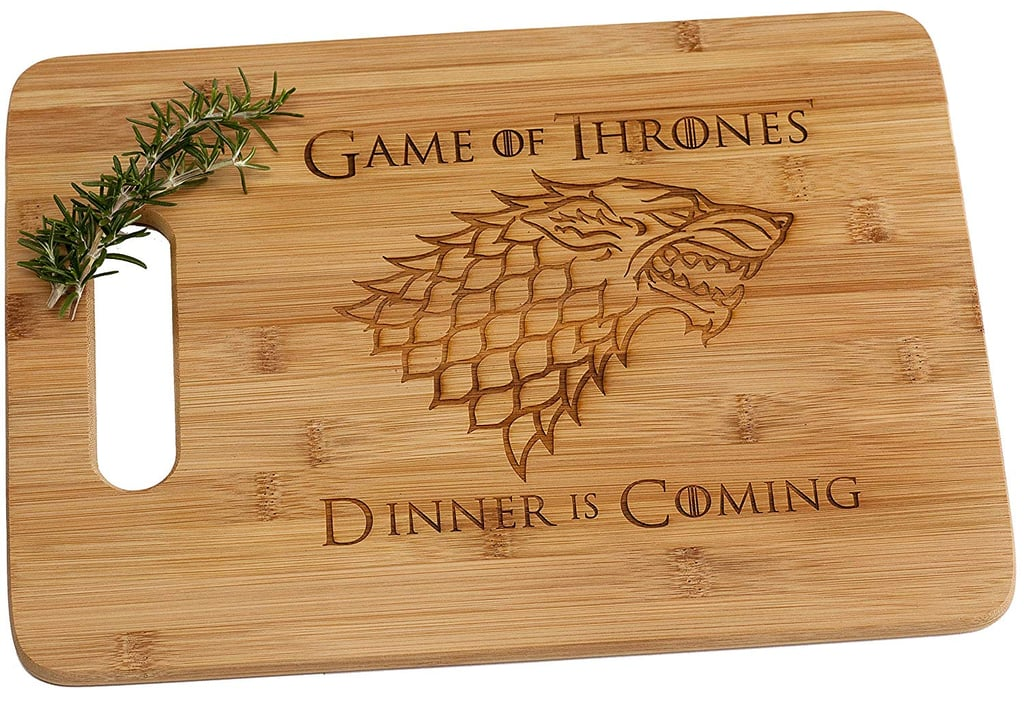 Dinner Is Coming Bamboo Cutting Board