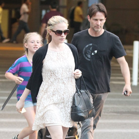 Pregnant Anna Paquin With Stephen Moyer and Lilac Pictures