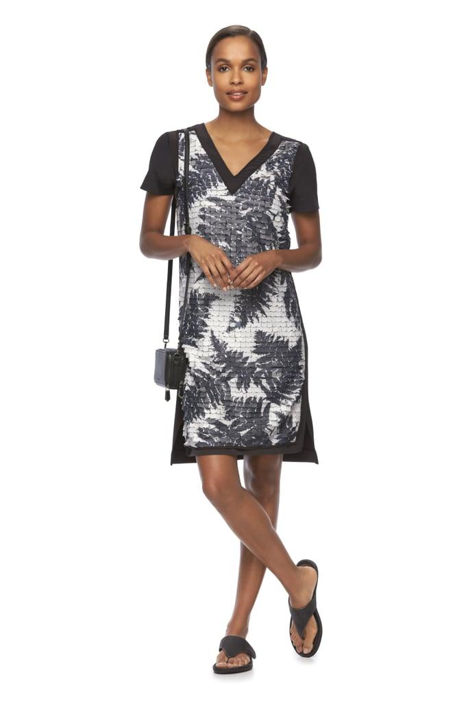 Fern Paillette Sheath Dress ($120) and Mini Crossbody Wallet ($49)