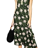 Topshop Hibiscus Halter Midi Dress
