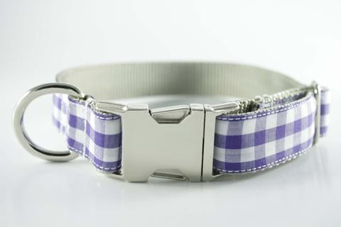 Royal Purple Gingham Collar ($32)