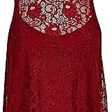 River Island Womens Red lace high neck top ($64)