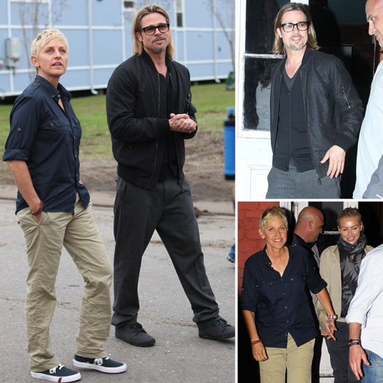 Brad Pitt Hits NOLA With Ellen and Portia Ahead of His Star-Studded Charity Gala
