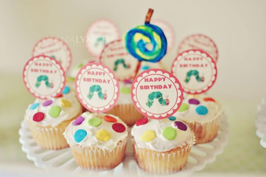 Homemade Caterpillar-Themed Cupcakes