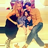 Rachel Zoe and husband Rodger Berman took a sweet family snap with their sons, Skyler and Kaius.