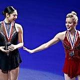 Mirai and Ashley were good sports on the podium during the medal ceremony.