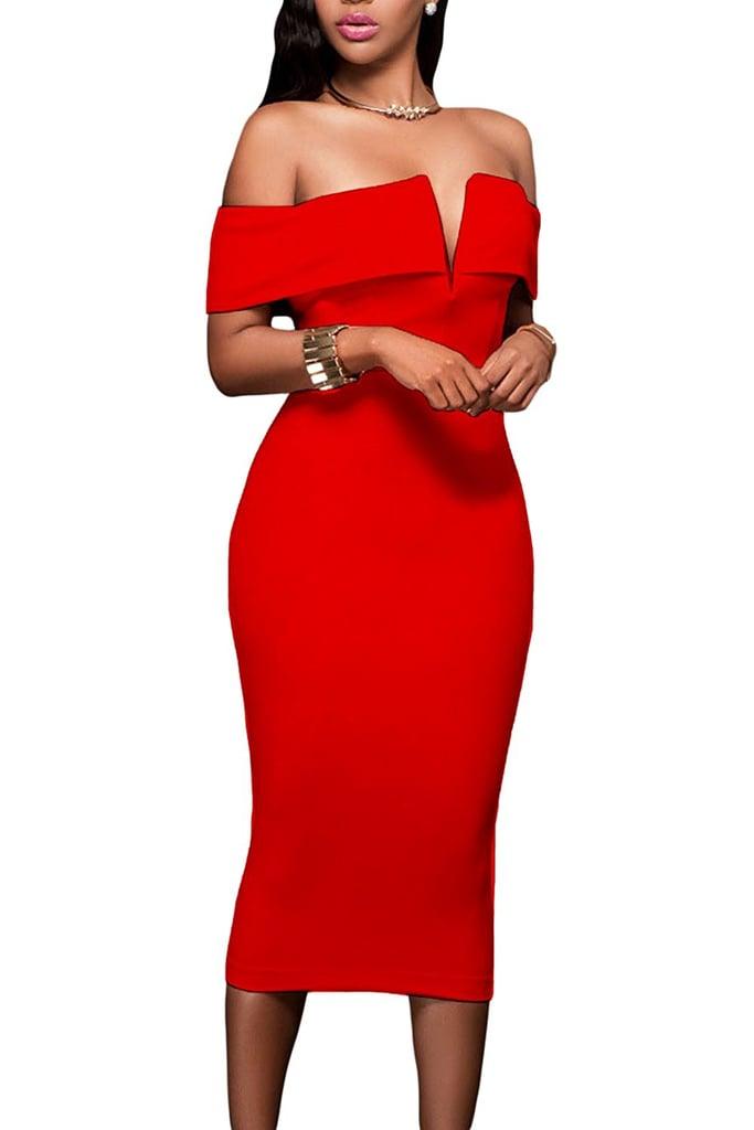 Alvaq Red Dress | Sexy Red Dresses on Amazon | POPSUGAR Fashion Photo 9