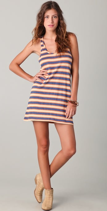 We'd wear this easy, breezy striped dress, well, everywhere!  Daftbird Stripe Long Tank Dress ($75)