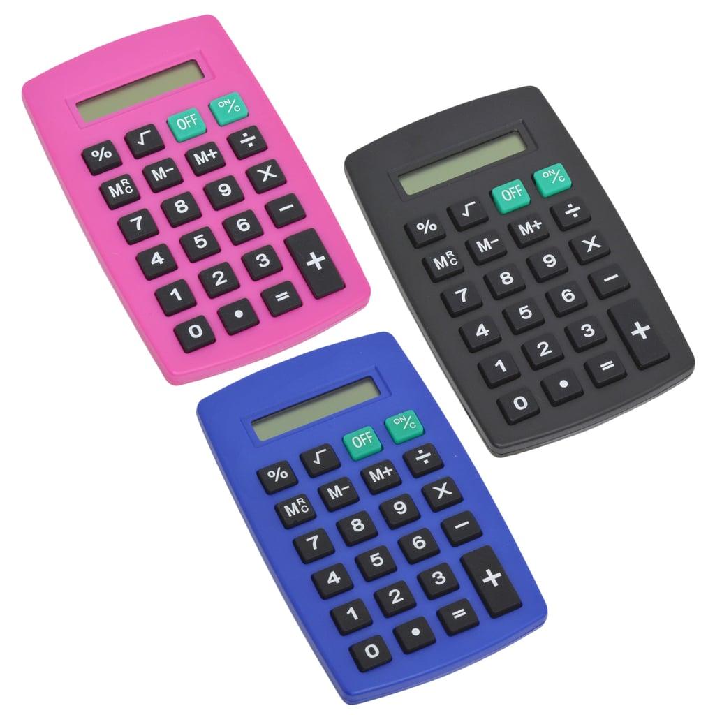8-Digit Plastic Pocket Calculators ($1 each)