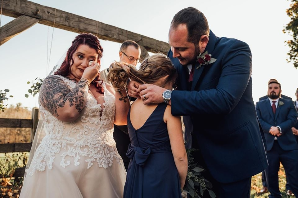 Man Says Emotional Vows to New Stepdaughter | Photos