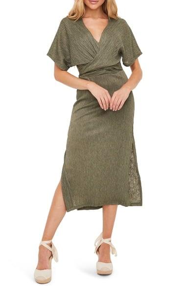 All in Favor Phoebe V-Neck Midi Dress