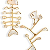 Tory Burch Small Mismatched Fish Earrings