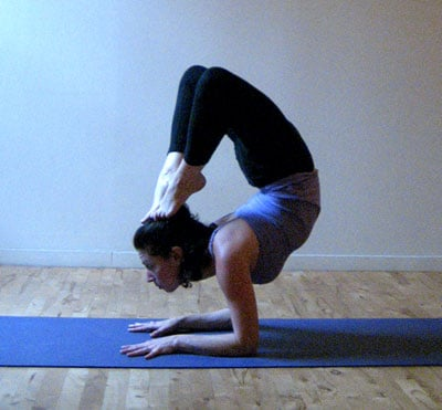 Strike a Yoga Pose: Forearm Stand Scorpion