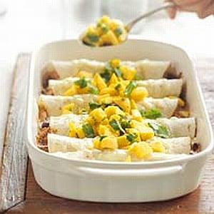 Monday's Leftovers: Enchiladas with Fresh Mango Salsa
