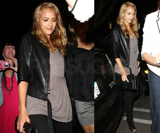Photos of Jessica Alba at Guys and Dolls Bar